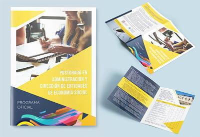 Visualpublik Diseño de pendón + Diptico o triptico